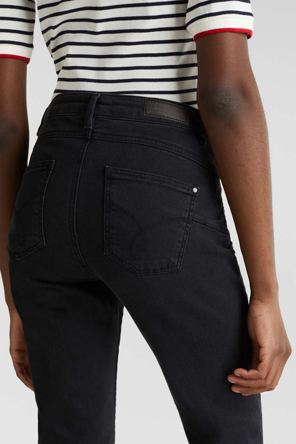 Bootcut jeans with a high waistband, BLACK RINSE, detail image number 5