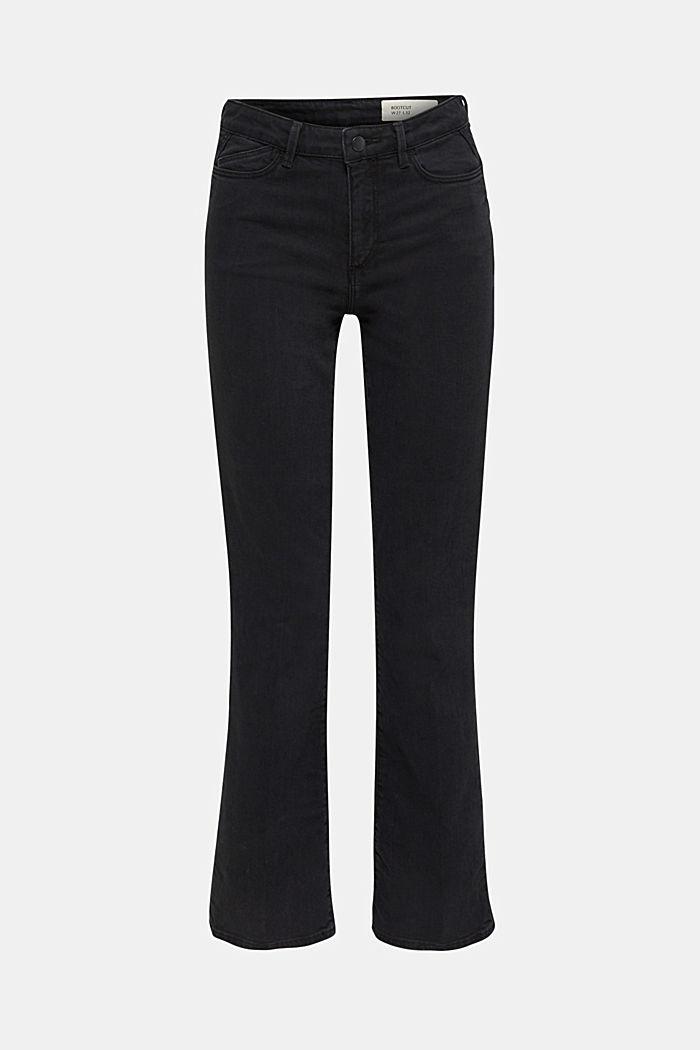 Zvonové džíny s vysokým pasem, BLACK RINSE, detail image number 7