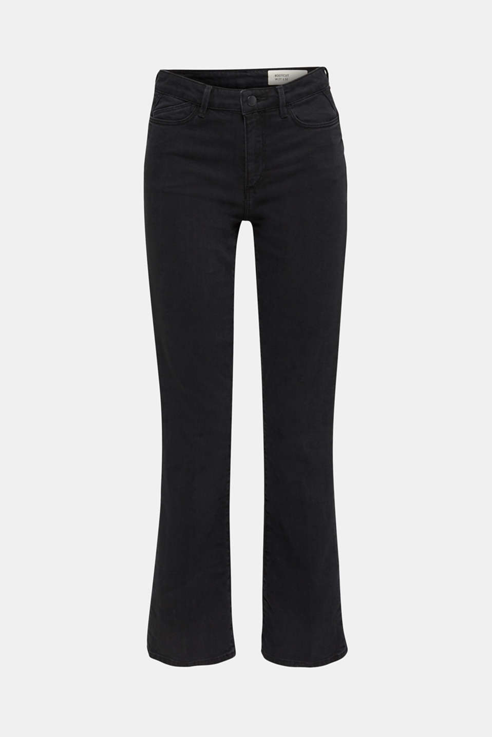 Bootcut jeans with a high waistband, BLACK RINSE, detail image number 7