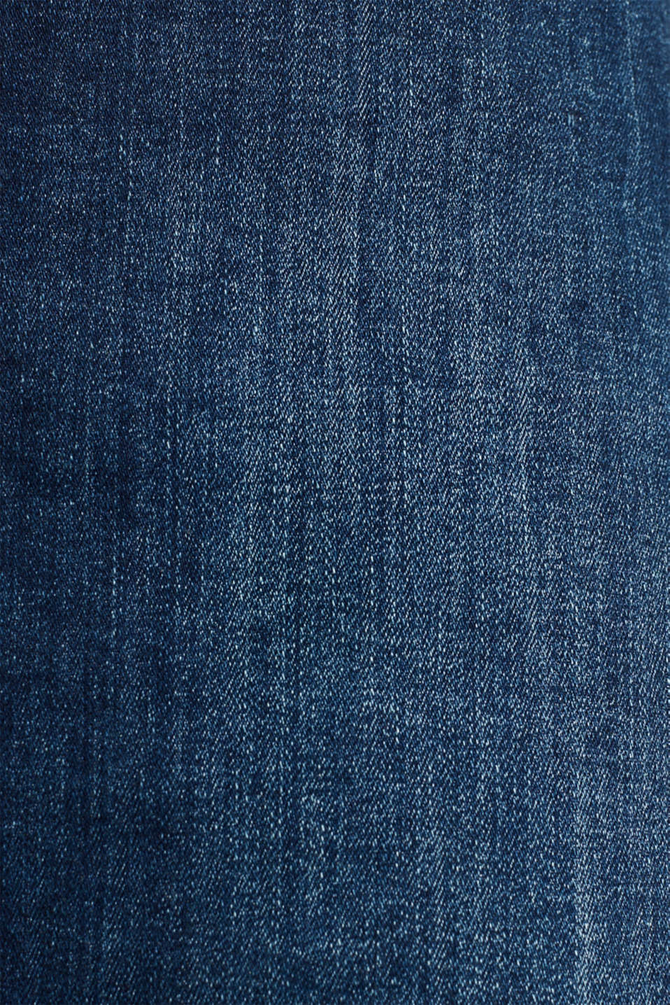 Button-fastening A-line denim skirt, BLUE MEDIUM WASH, detail image number 5