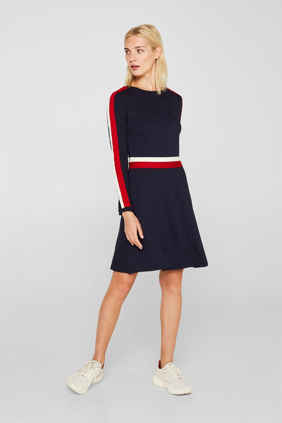 Dresses knitted, NAVY, detail image number 1