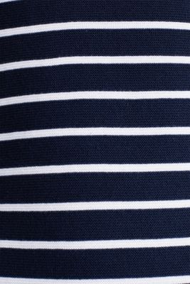 Knit dress with stripes, 100% cotton, NAVY 4, detail