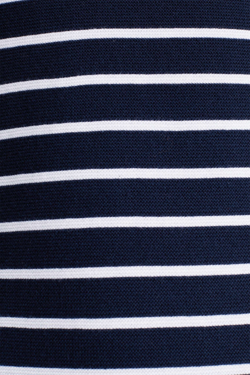 Knit dress with stripes, 100% cotton, NAVY 4, detail image number 4