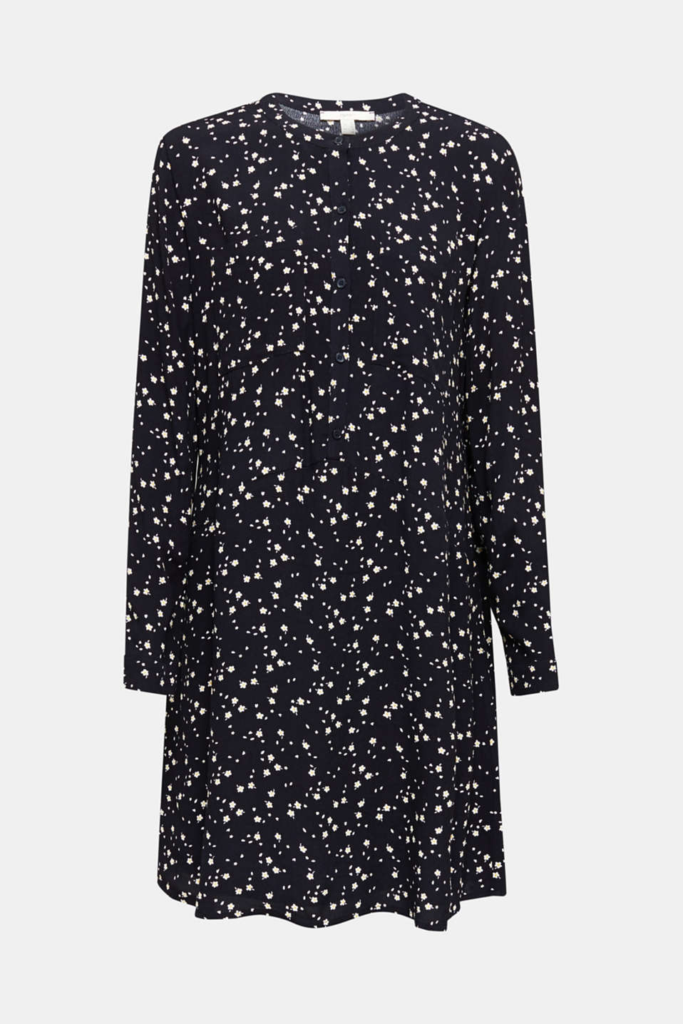 Shirt dress with a mille-fleurs print, NAVY, detail image number 5