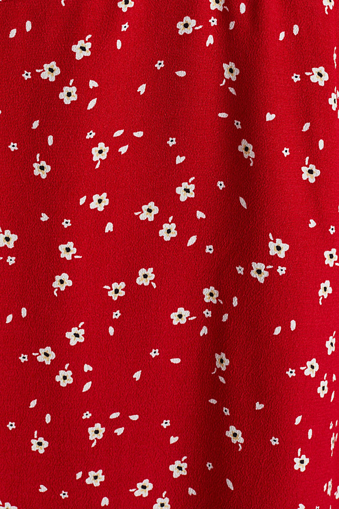 Shirt dress with a mille-fleurs print, RED, detail image number 1