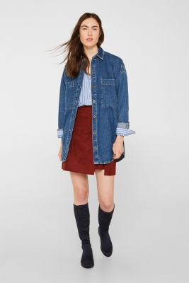Blouse with stripes, 100% cotton, BLUE, detail