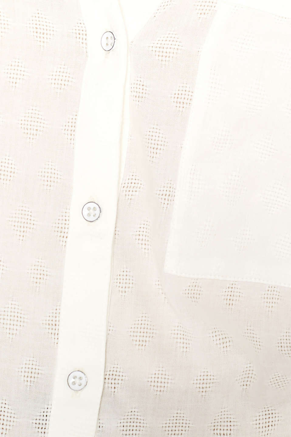 Blouse with a jacquard pattern, 100% cotton, OFF WHITE, detail image number 4