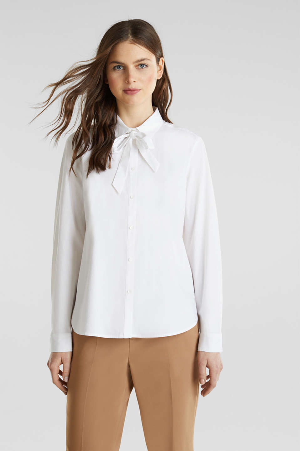 Esprit - Stretchblouse met striklint