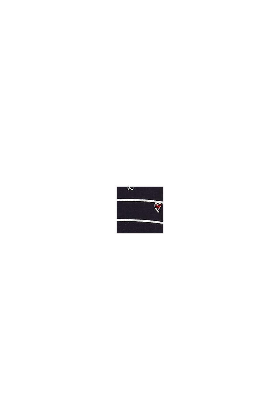 Blusenshirt mit Ripp-Bündchen, NAVY, swatch