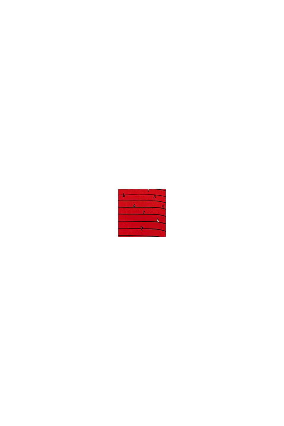 Blusenshirt mit Ripp-Bündchen, DARK RED, swatch
