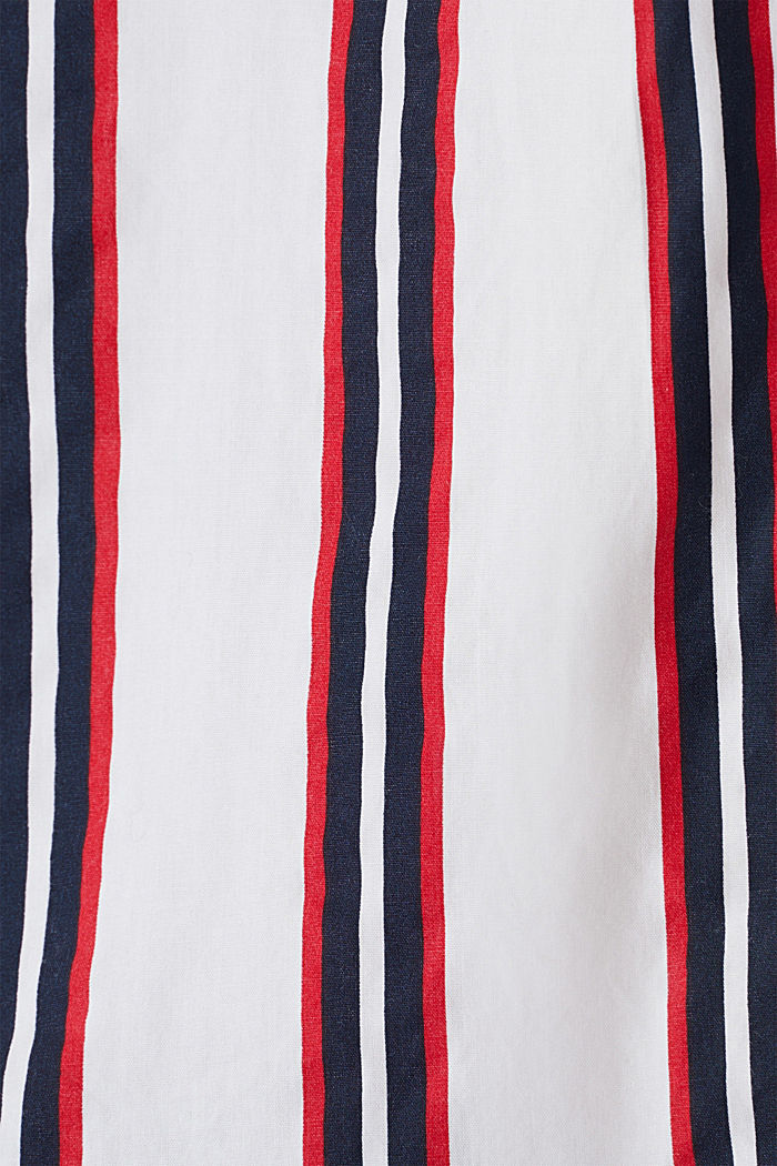 Henley blouse with stripes, 100% cotton, NAVY, detail image number 4