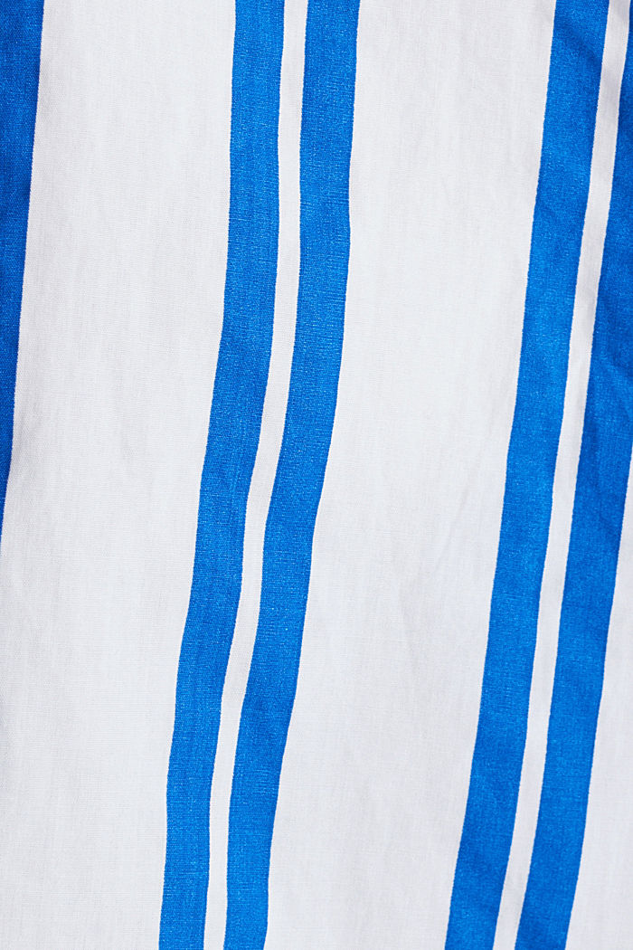 Henley blouse with stripes, 100% cotton, BRIGHT BLUE, detail image number 4