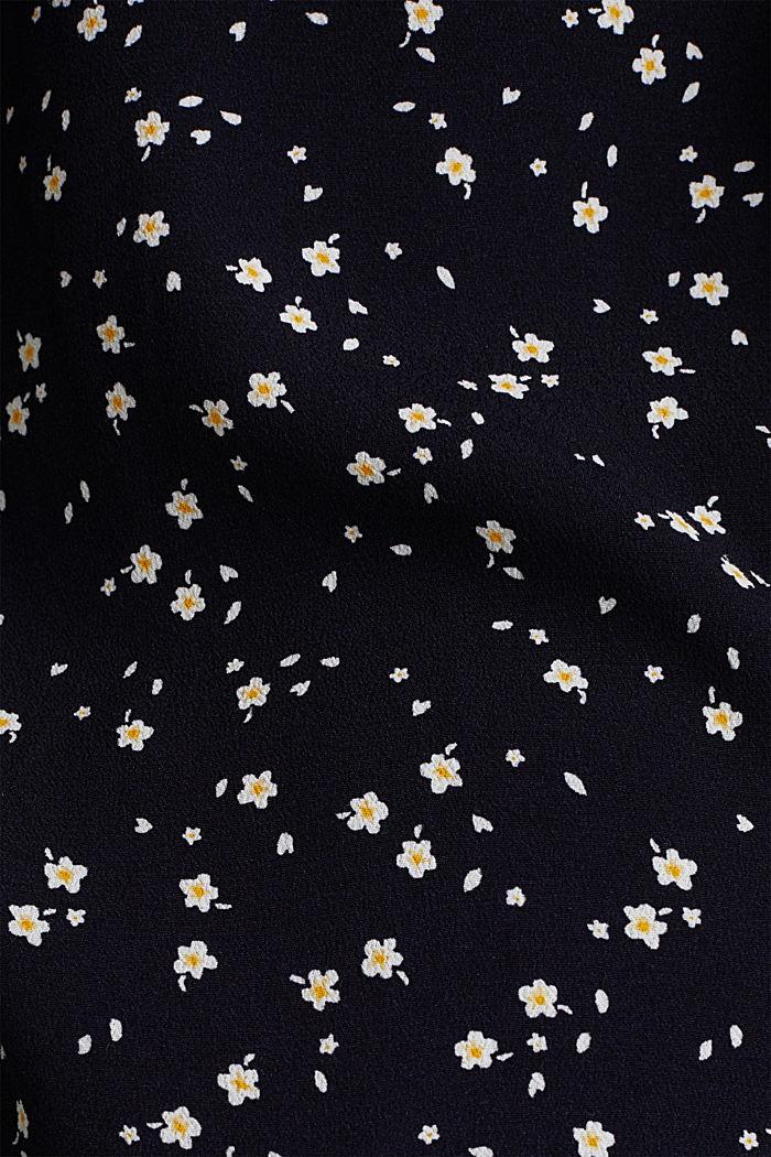 Crêpe-Bluse mit rundem Ausschnitt, NAVY, detail image number 3