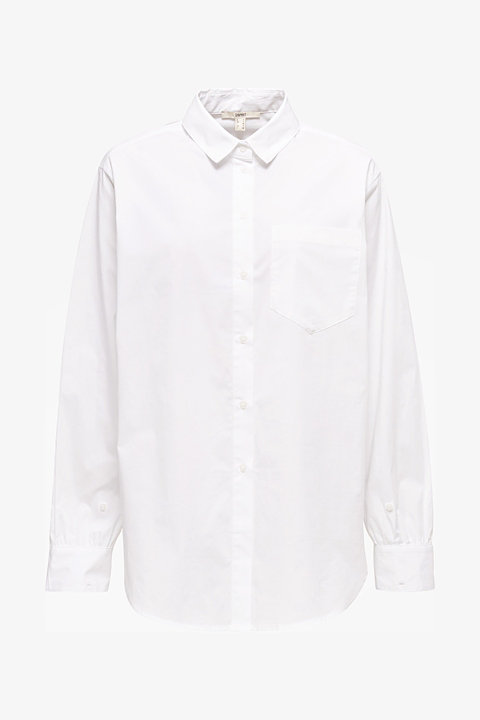 Shirt blouse in an oversized style, 100% cotton