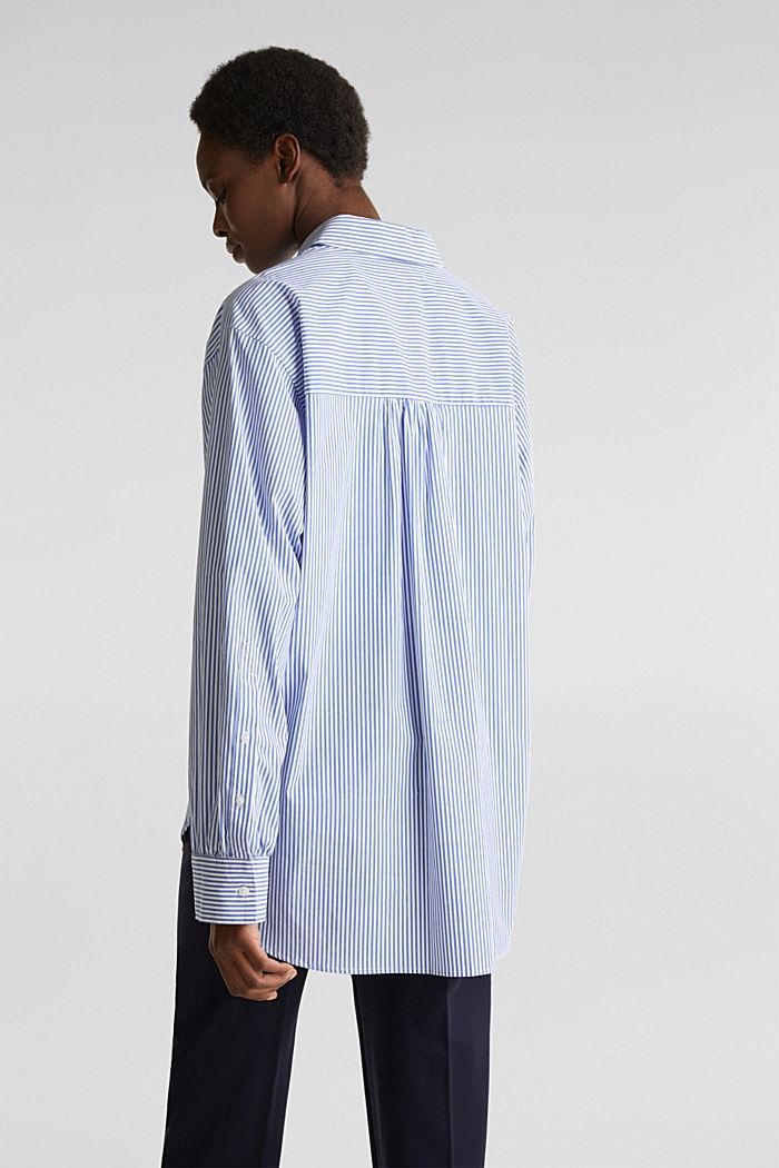 Oversized-Bluse mit breiten Turn-up-Manschetten, LIGHT BLUE, detail image number 3