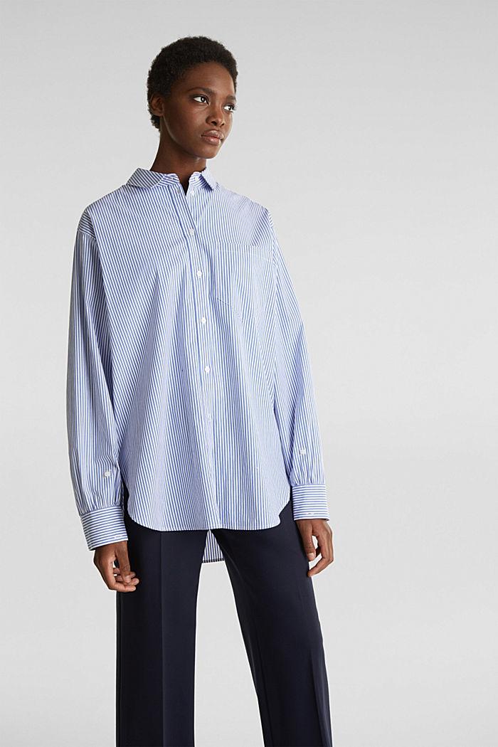 Oversized-Bluse mit breiten Turn-up-Manschetten, LIGHT BLUE, detail image number 6
