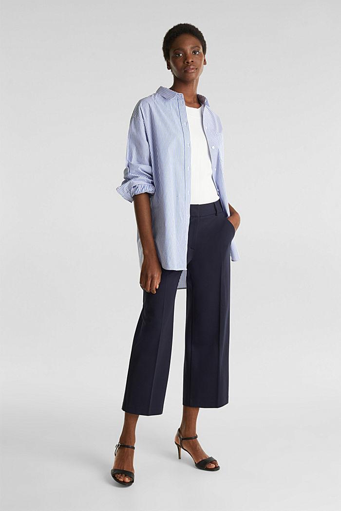 Oversized-Bluse mit breiten Turn-up-Manschetten, LIGHT BLUE, detail image number 1