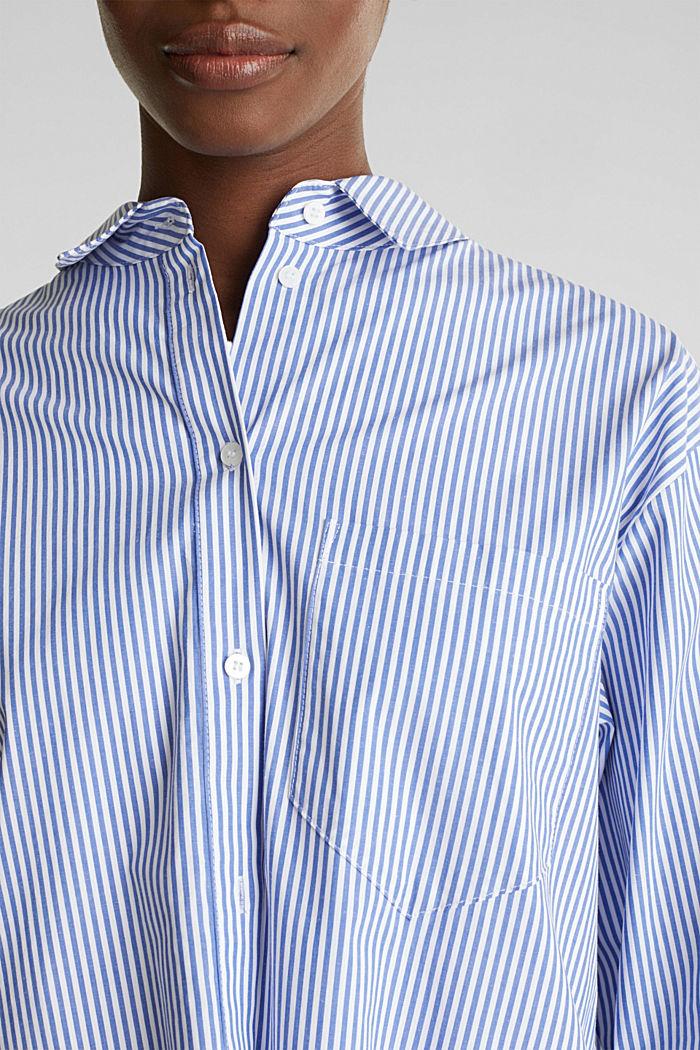 Oversized-Bluse mit breiten Turn-up-Manschetten, LIGHT BLUE, detail image number 2