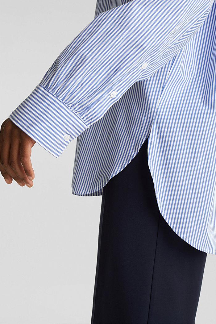 Oversized-Bluse mit breiten Turn-up-Manschetten, LIGHT BLUE, detail image number 5