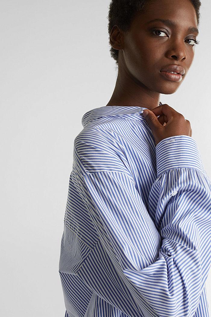Oversized-Bluse mit breiten Turn-up-Manschetten, LIGHT BLUE, detail image number 7