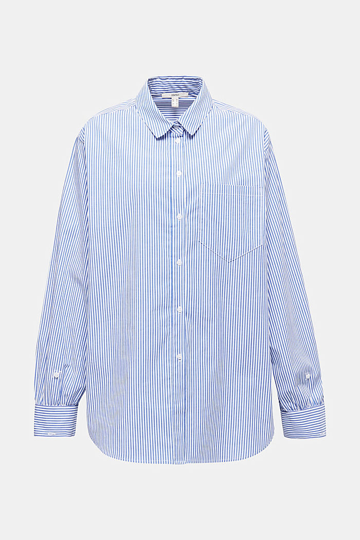 Oversized-Bluse mit breiten Turn-up-Manschetten, LIGHT BLUE, detail image number 8