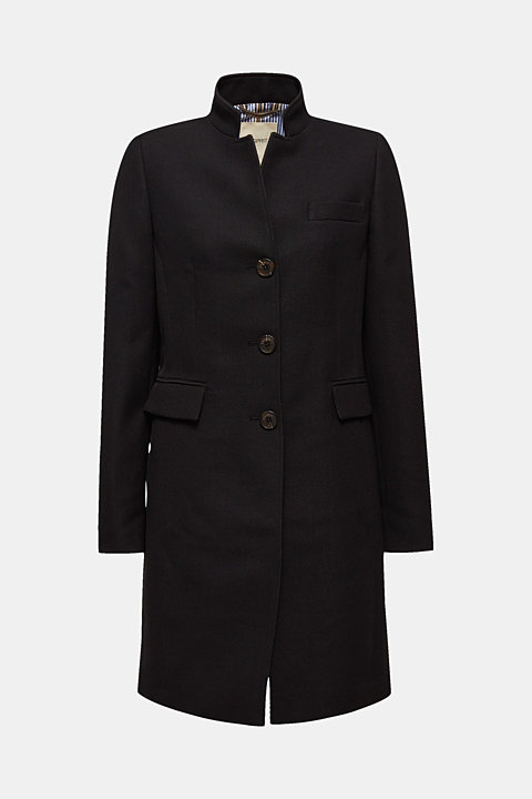 Piqué coat with stretch