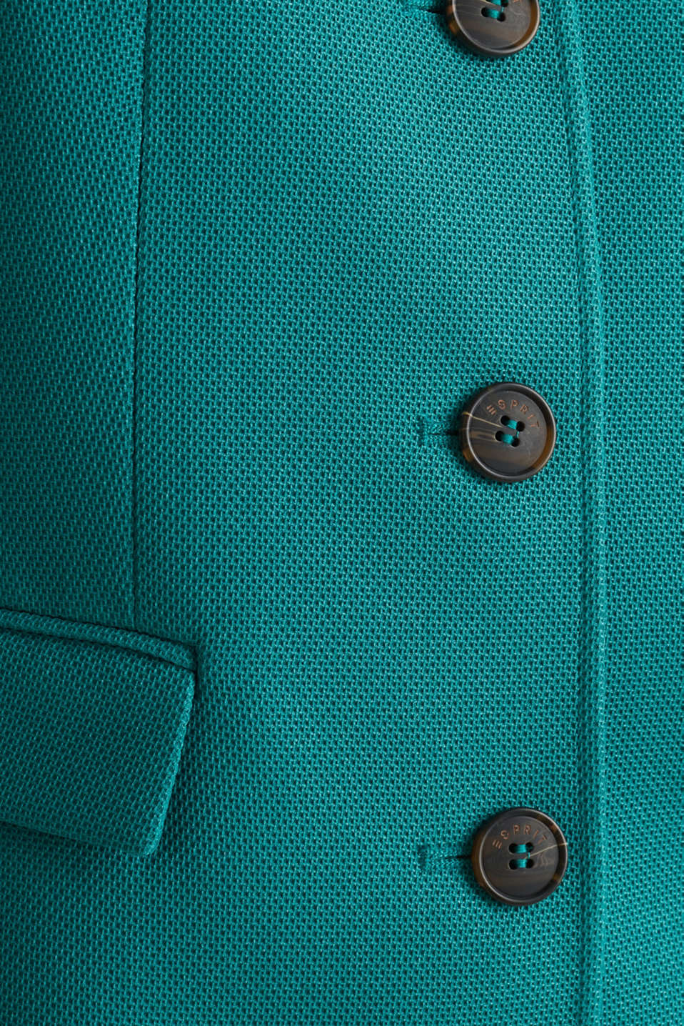Piqué coat with stretch, TEAL GREEN, detail image number 4