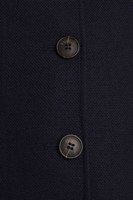 Piqué coat with stretch, NAVY, detail
