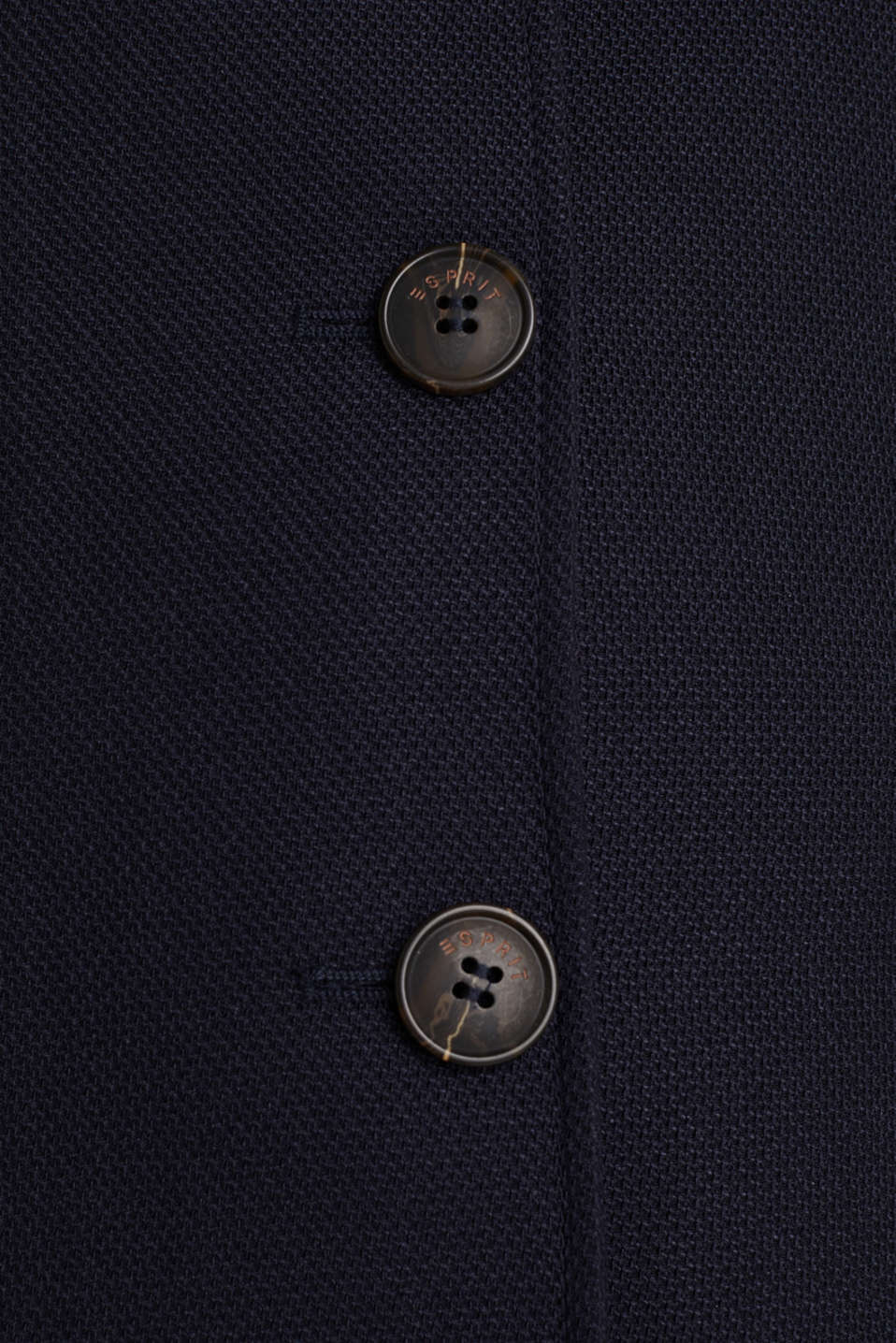 Piqué coat with stretch, NAVY, detail image number 4