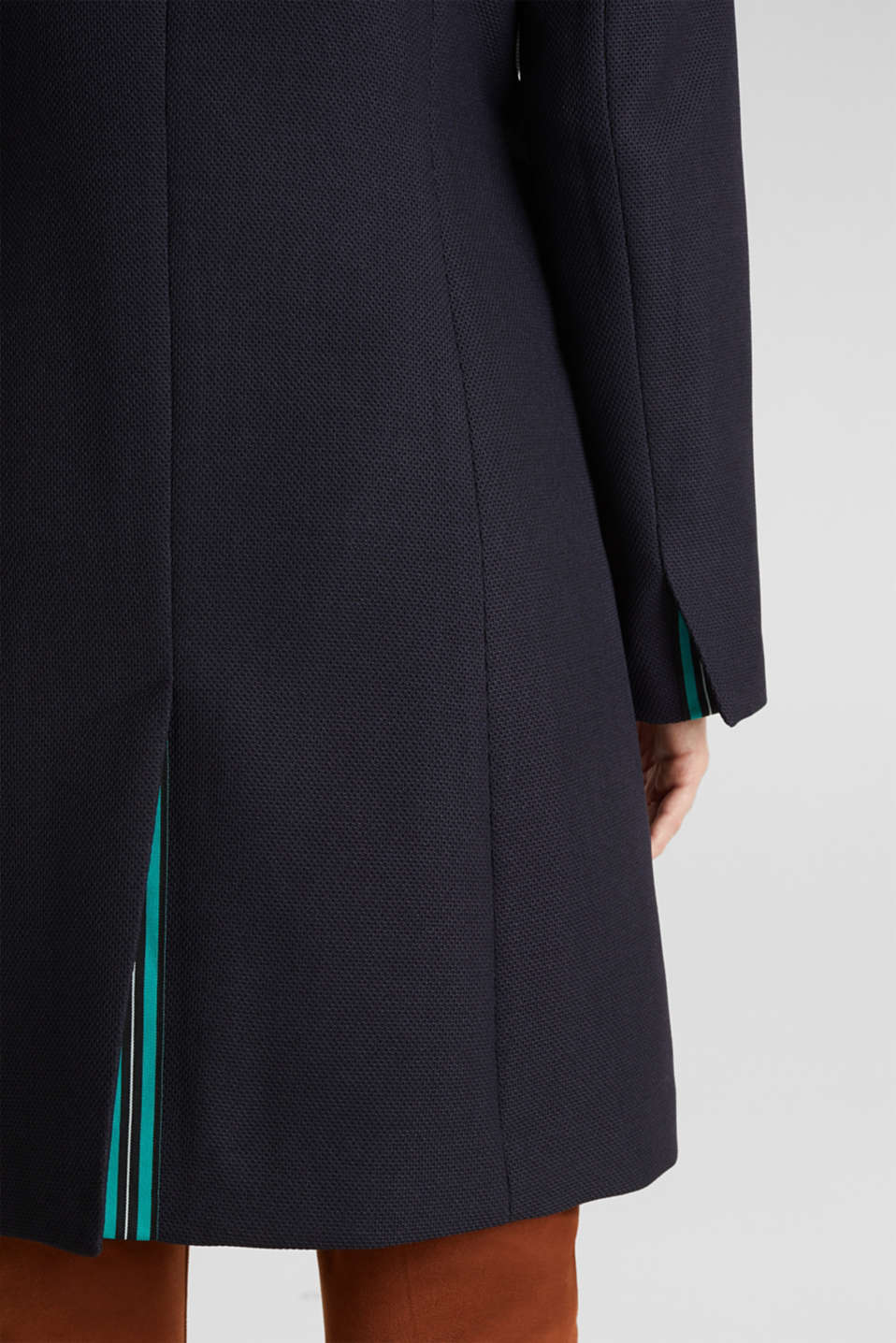 Piqué coat with stretch, NAVY, detail image number 5