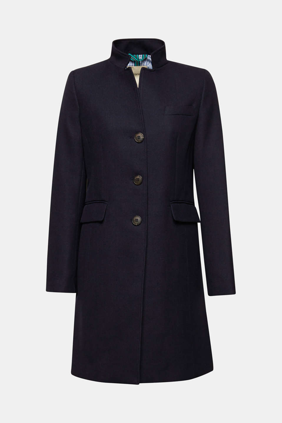 Piqué coat with stretch, NAVY, detail image number 8