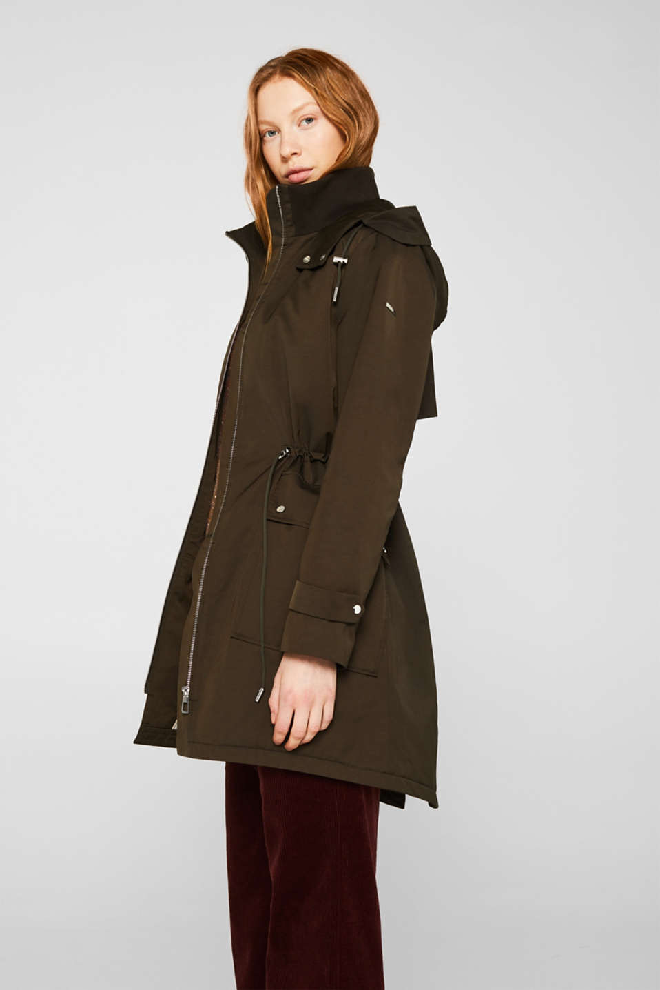 Esprit - Hooded parka with lightweight padding