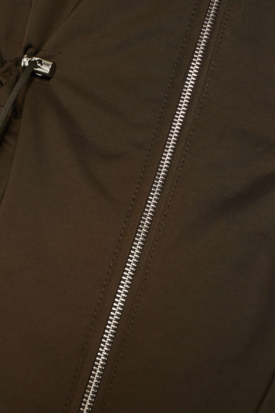 Hooded parka with padding, DARK KHAKI, detail image number 4