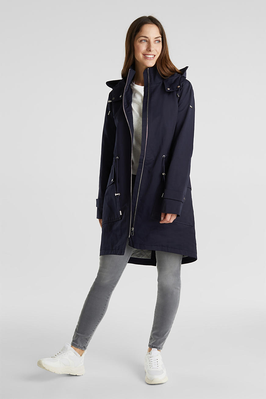 Hooded parka with padding