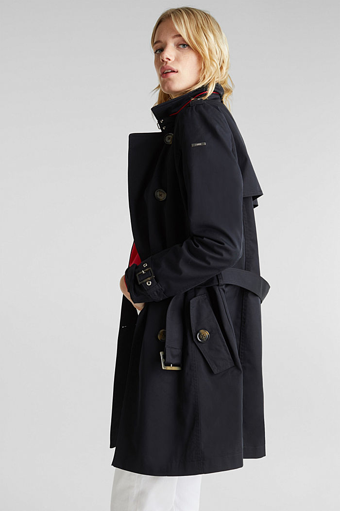 Trenchcoat mit variabler Kapuze, BLACK, detail image number 5