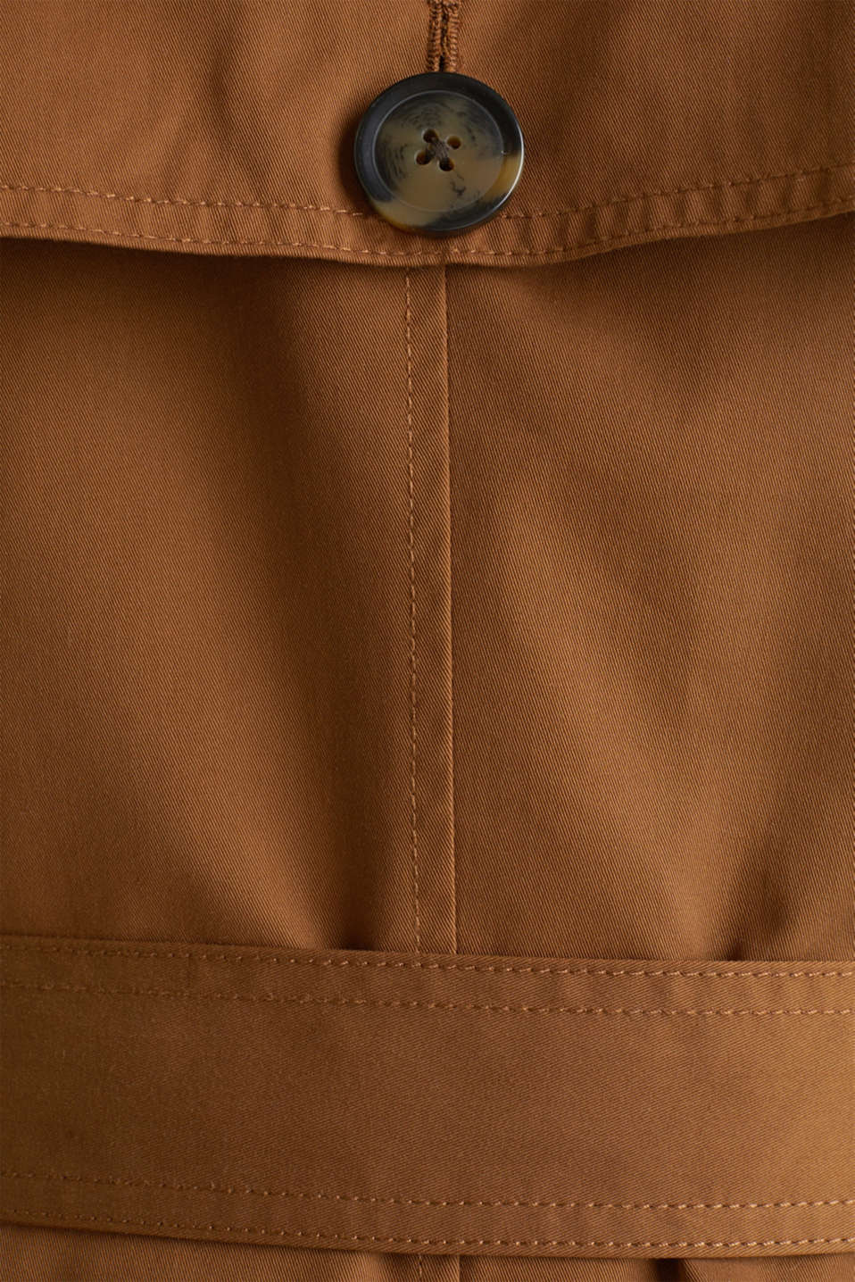 Trench coat with an adjustable hood, TOFFEE, detail image number 4