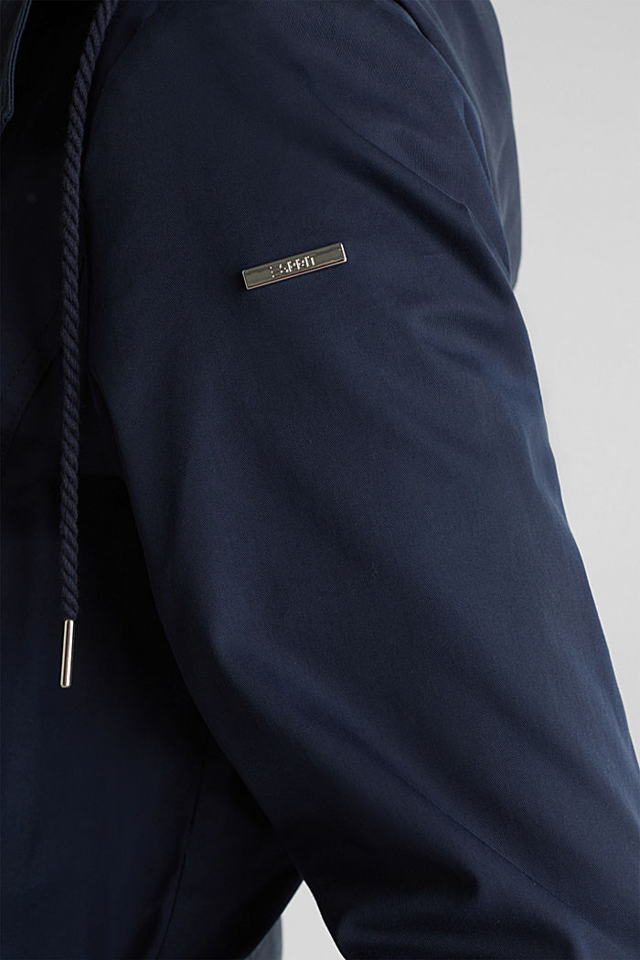 Trenchcoat mit variabler Kapuze, NAVY, detail image number 2