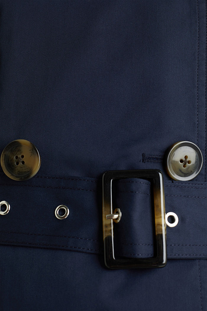 Trenchcoat mit variabler Kapuze, NAVY, detail image number 4