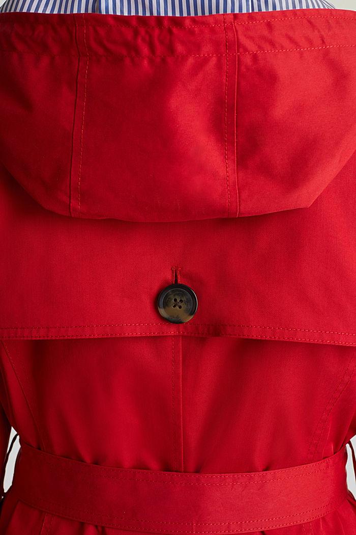 Trenchcoat mit variabler Kapuze, DARK RED, detail image number 5