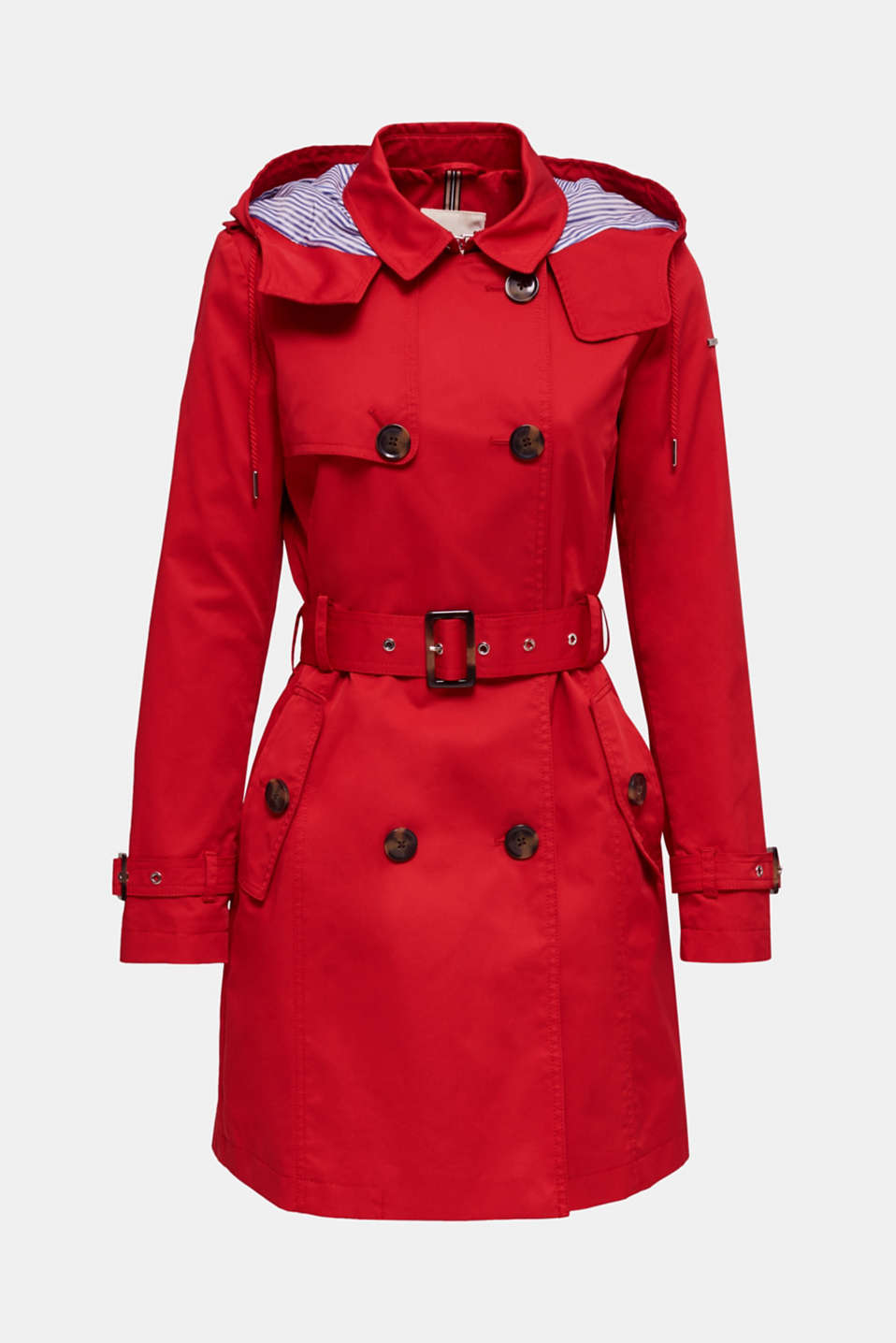 Trench coat with an adjustable hood, DARK RED, detail image number 8