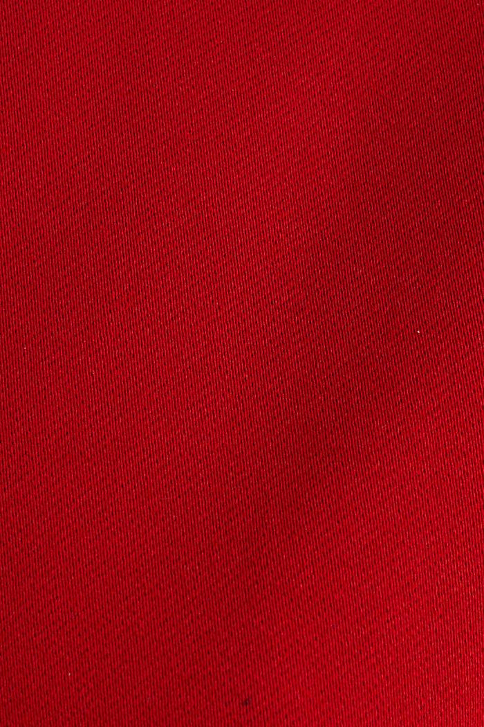 Blazer with an adjustable collar, stretch cotton, DARK RED, detail image number 3