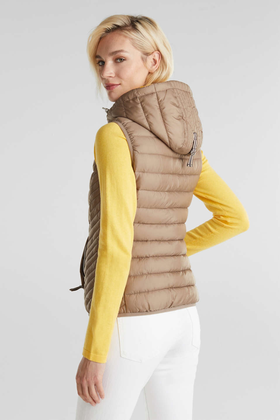 Hooded quilted body warmer with 3M™ Thinsulate™ filling, TAUPE, detail image number 3