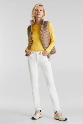 Hooded quilted body warmer with 3M™ Thinsulate™ filling, TAUPE, detail
