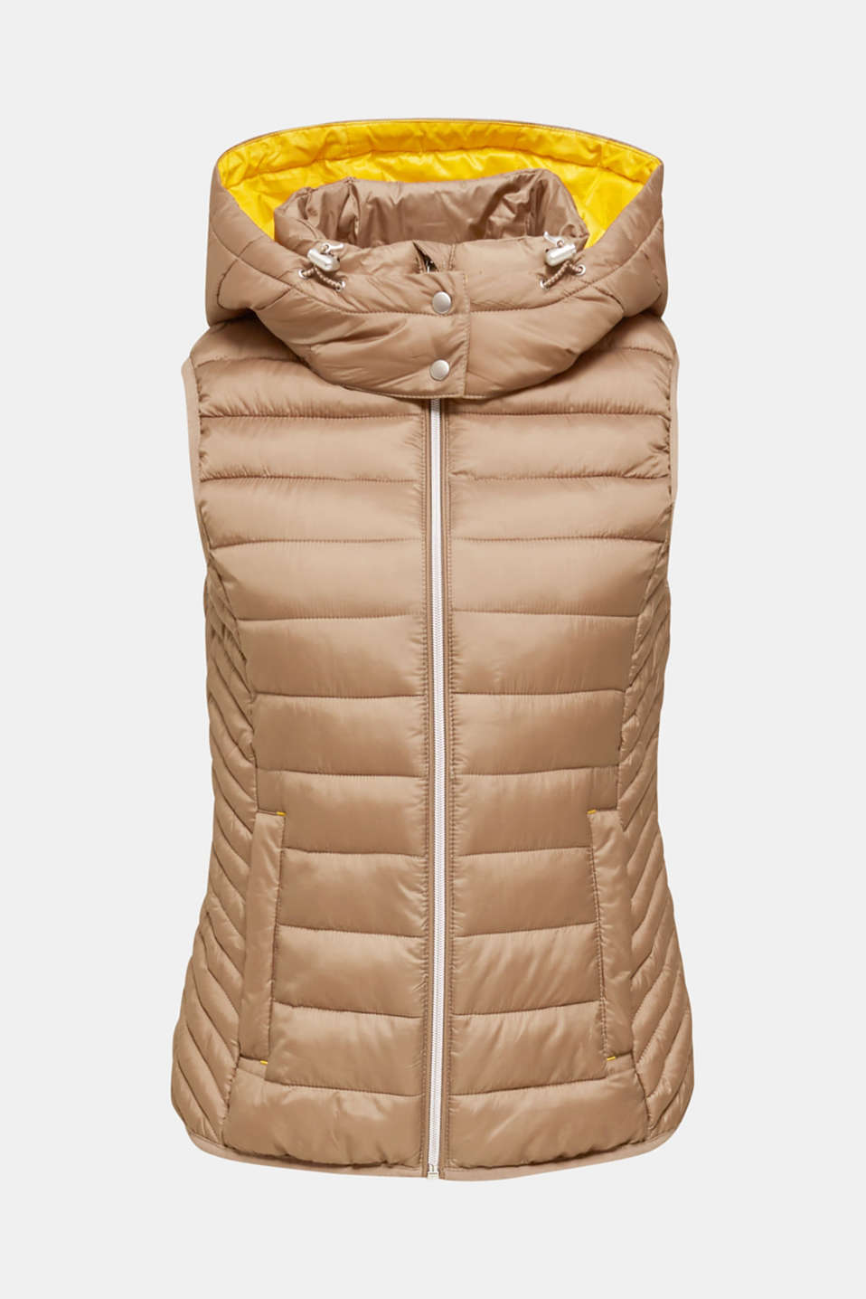 Hooded quilted body warmer with 3M™ Thinsulate™ filling, TAUPE, detail image number 8