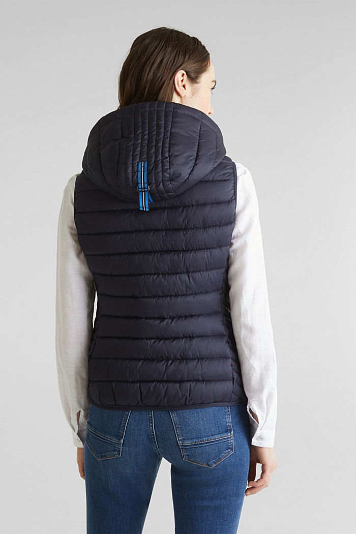Hooded quilted body warmer with 3M™ Thinsulate™ filling, NAVY, detail image number 2