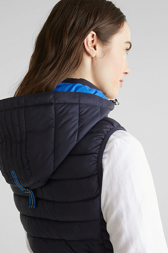 Hooded quilted body warmer with 3M™ Thinsulate™ filling, NAVY, detail image number 4