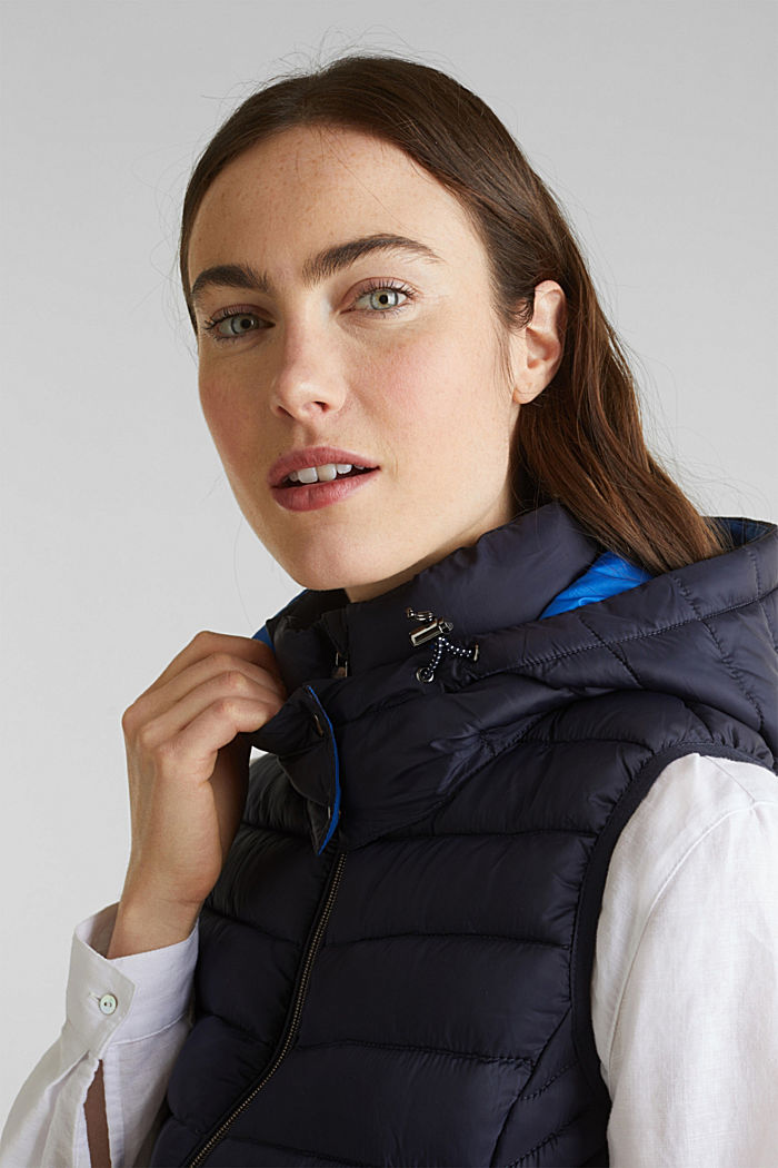 Hooded quilted body warmer with 3M™ Thinsulate™ filling, NAVY, detail image number 5