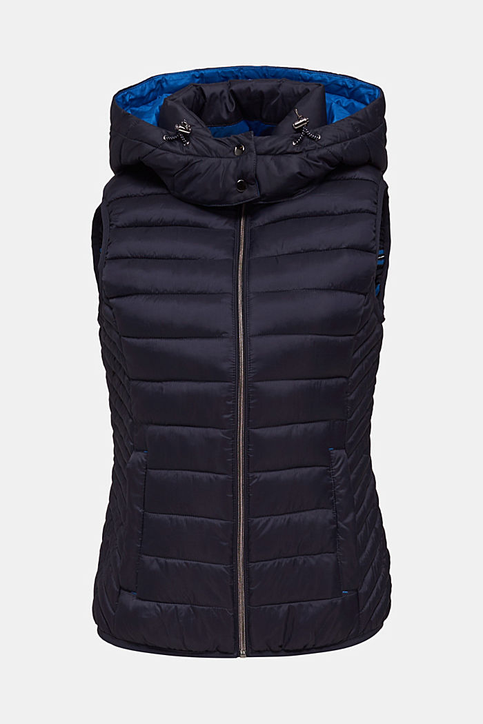 Hooded quilted body warmer with 3M™ Thinsulate™ filling, NAVY, detail image number 6