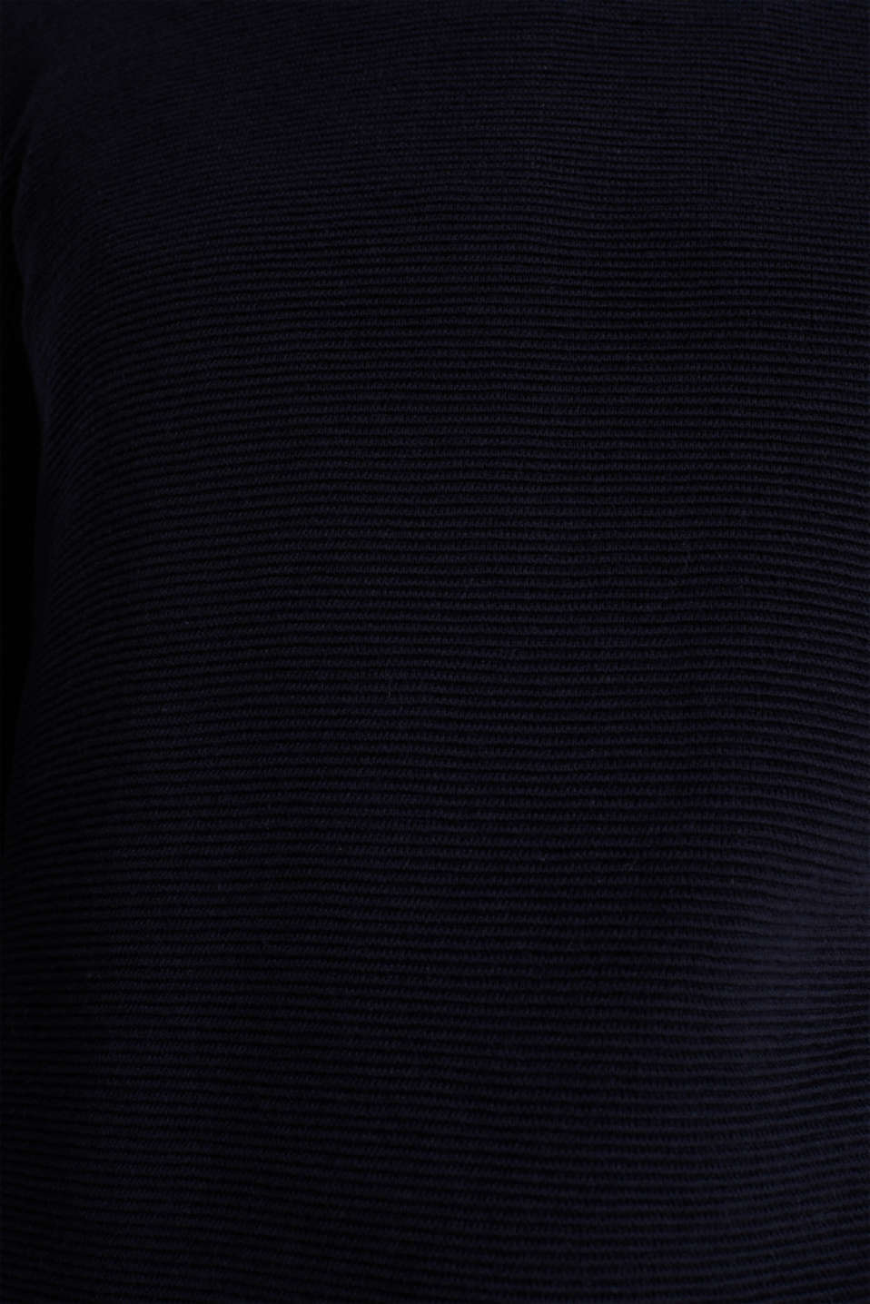 Jumper with a ribbed texture, NAVY, detail image number 4