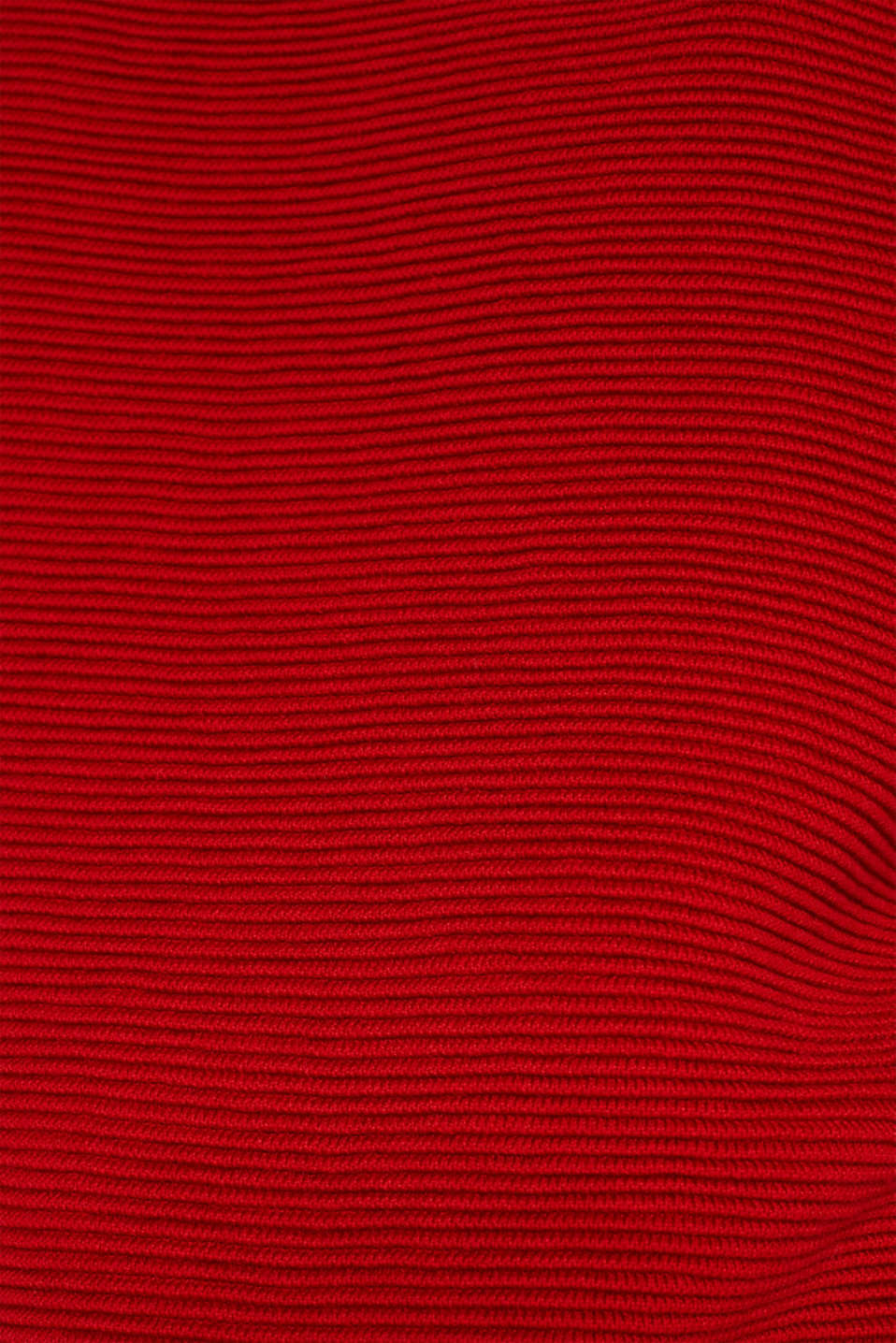 Jumper with a ribbed texture, DARK RED, detail image number 4